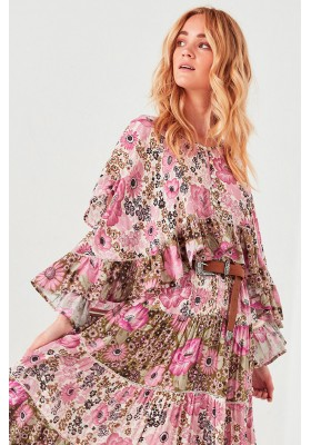 DESERT DAISY FLUTTER BLOUSE LILAC BY SPELL & THE GYPSY COLLECTIVE