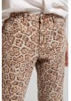 LEOPARD TRUCKERS MID RISE STRAIGHT LEG JEAN ONE & ONE TEASPOON