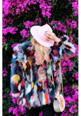 FUR COAT TOSCANA MULTICOLOR