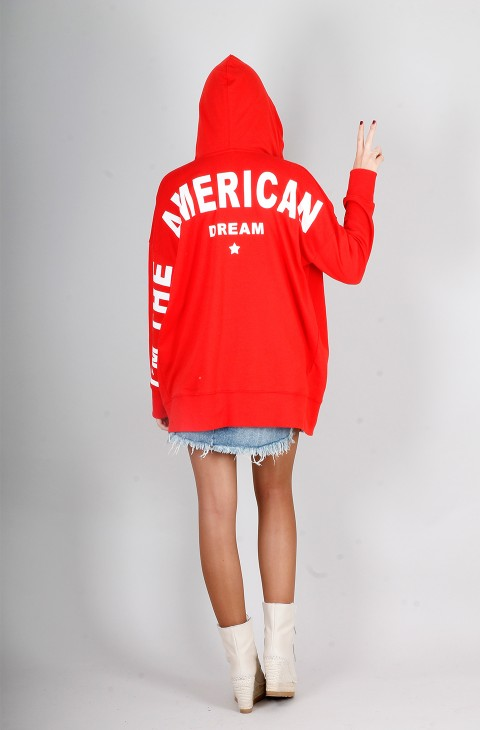 SUDADERA AMERICAN DREAM ROJO