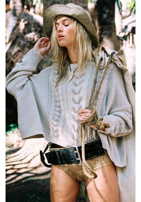LINDA SLOUCH KNIT TAUPE BY SPELL & THE GYPSY DESINGS