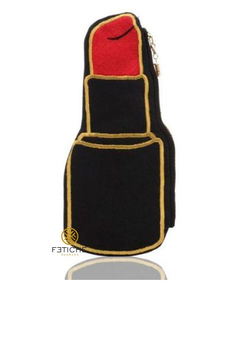 RED LIPSTICK SHAPED  POUCH/CLUTCH