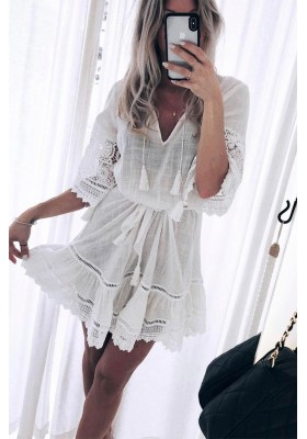 ABIGAIL LACE MINI DRESS WHITE BY SPELL & THE GYPSY DESIGNS