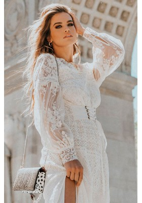DAWN LACE BELTED MIDI DRESS SPELL & THE GYPSY