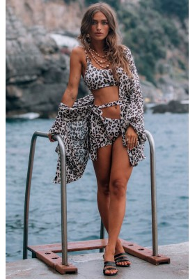BODHI LEOPARD SHORT ROBE BODHI SPELL & THE GYPSY