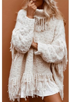 JERSEY OVERSIZED KIMBA KNIT SWEATER ALMOND SPELL & THE GYPSY