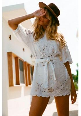 VESTIDO LALA LINEN SHIFT DRESS