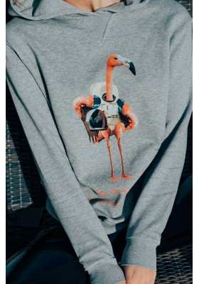 SUDADERA GRIS SPACE FLAMINGO BY PAULA ECHEVARRIA