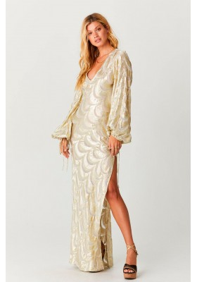 MAXI VESTIDO GOLD WAVES