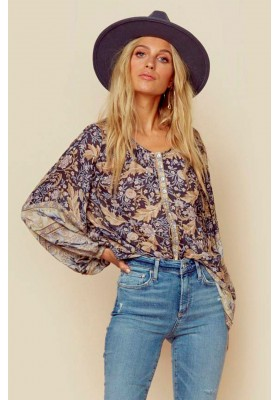 OASIS BLOUSE NIGHTSHADE BY SPELL & GYPSY DESIGNS