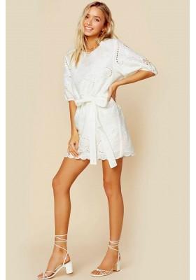 DRESS LALA LINEN SHIFT DRESS