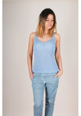 TOP DE LUREX AZUL