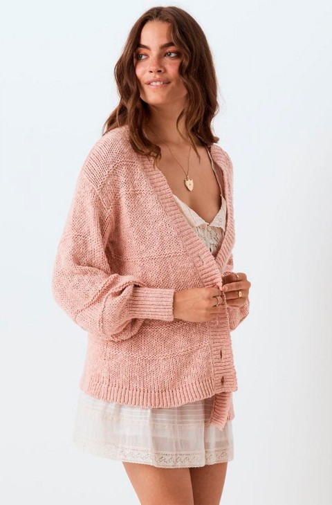 CHAQUETA DE PUNTO PEARL ON PEARL KNIT CARDIGAN SPELL DESIGNS