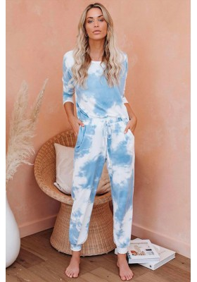 TIE DYE HOME SET BLUE TONES