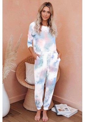 TIE DYE HOME SET PINK & BLUE