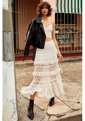 FALDA LEGAUZE LACE TIERED SKIRT SPELL & THE GYPSY