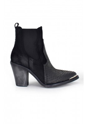 BLACK COWBOY ANKLE BOOTS TEXAS