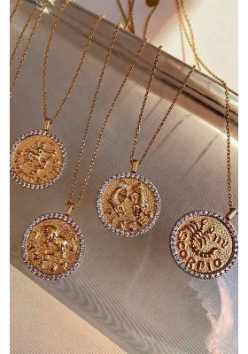 COLLAR MONEDA HOROSCOPO ARIES