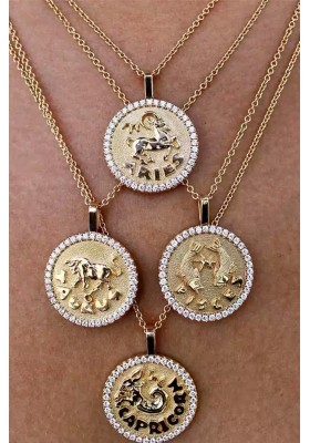 COLLAR MONEDA HOROSCOPO PISCIS