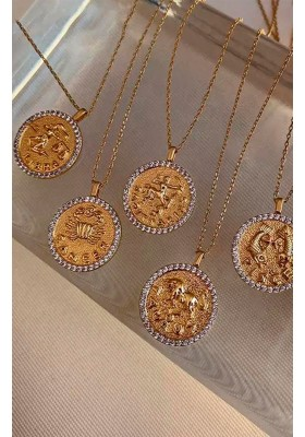 COLLAR MONEDA HOROSCOPO CANCER
