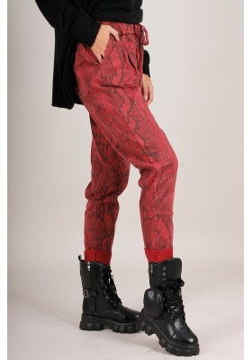 JOGGERS SNAKE  RED