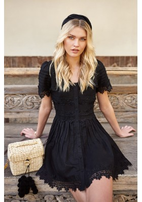 CRETA BLACK DRESS FETICHE SUANCES