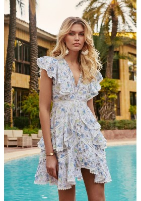 BLOSSOM DRESS BLUE FETICHE SUANCES
