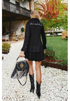 DON´T LOOK BACK BLACK DRESS BY FETICHE SUANCES