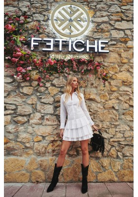 DON´T LOOK BACK WHITE DRESS BY FETICHE SUANCES