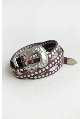 THE OUTLAW BELT  Chocolate BY SPELL DESIGNS