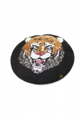TIGER SEQUIN BERET